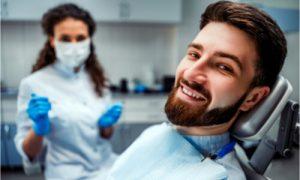 The dentist explains the dental procedure.